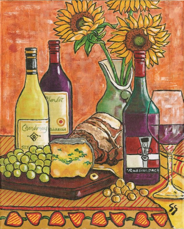 Wine and Sunflowers